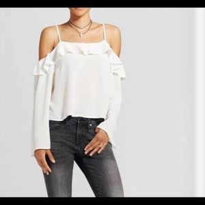 Tops - Mossimo white long sleeve top